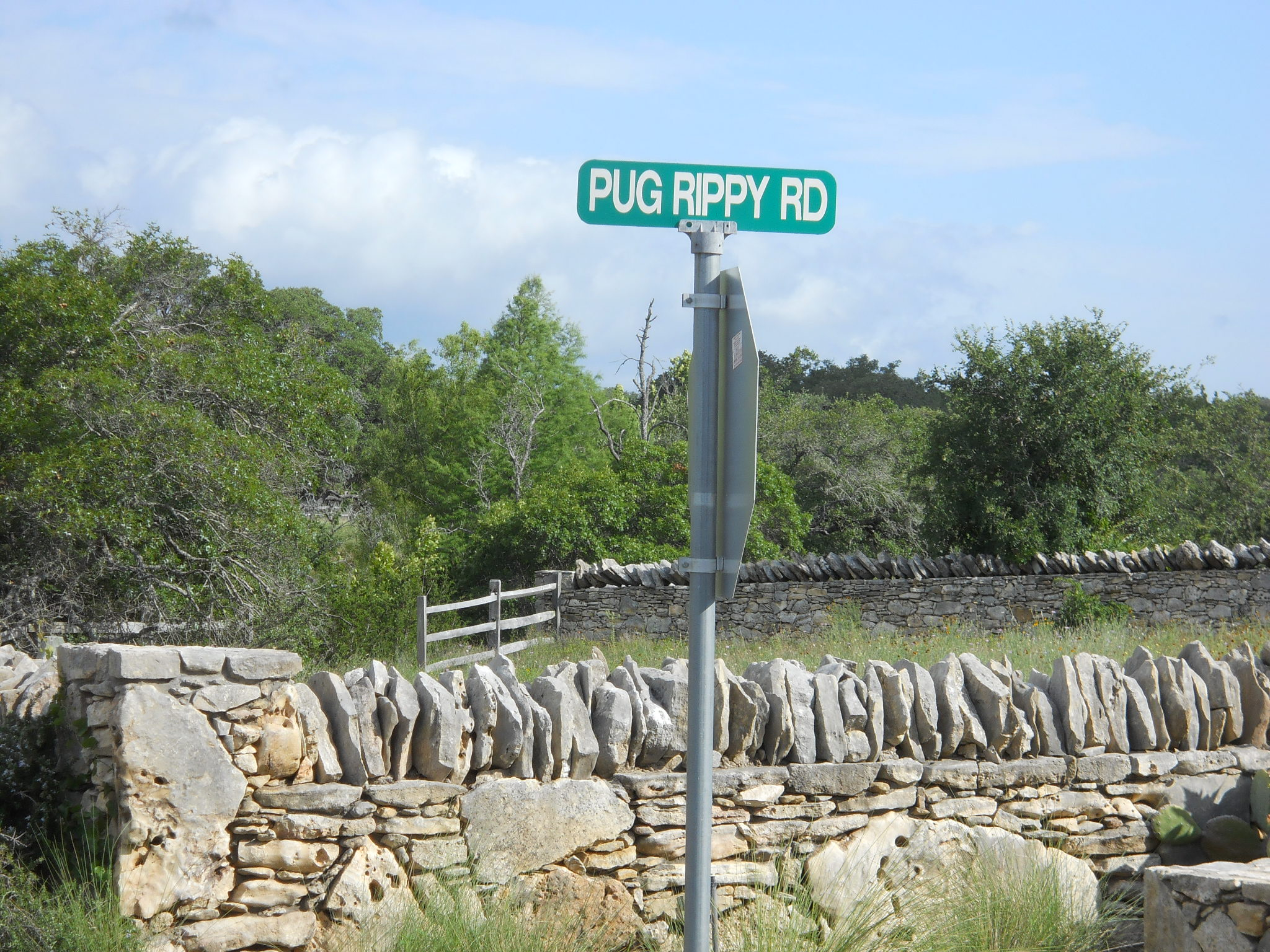 I always got a kick out of the name of this road. Then I found out it's the name of a prominent Dripping Springs businessman.