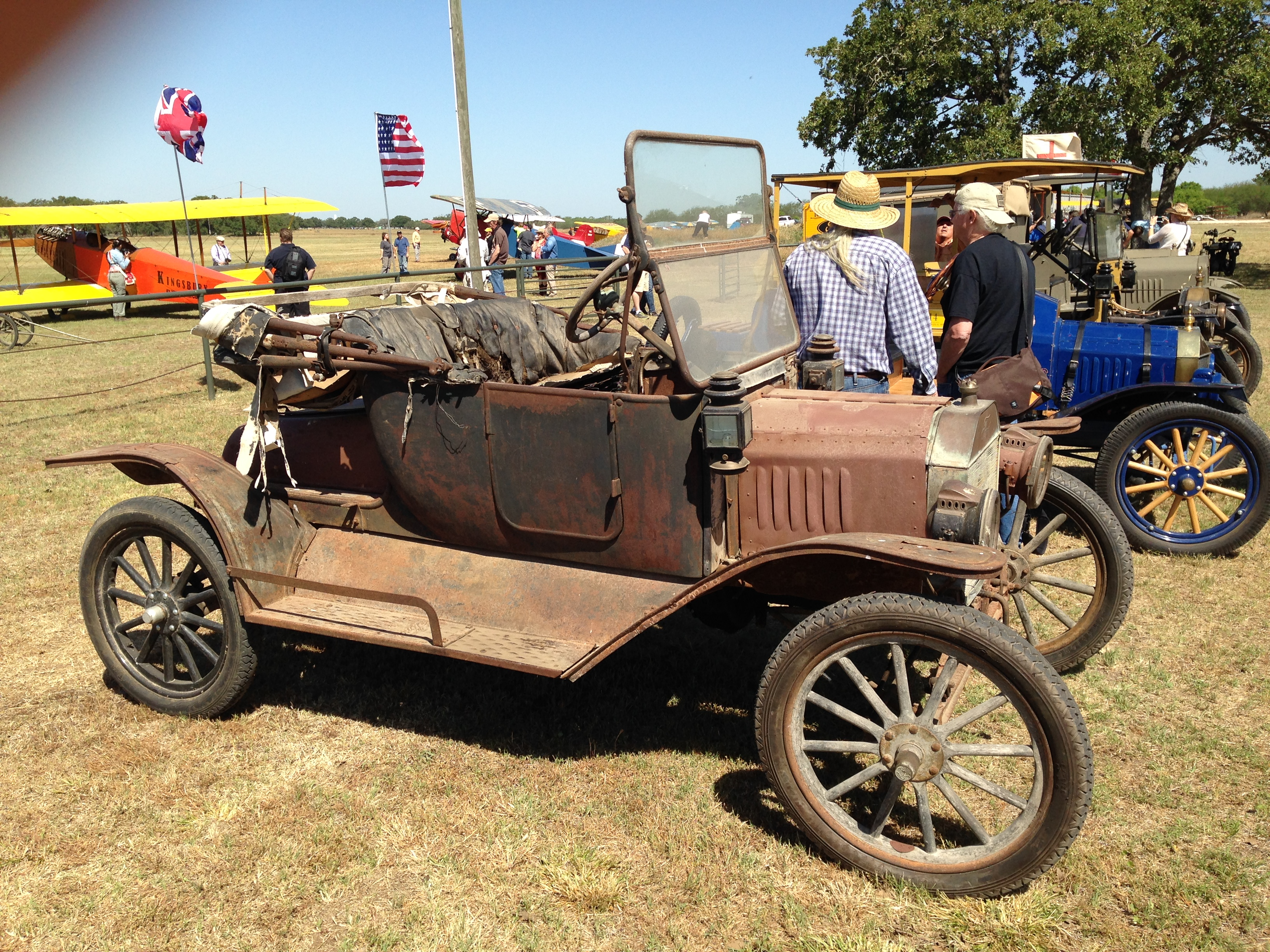 Cars were featured, too. Lots of rods and customs, WWI ambulances, Model Ts. But this unrestored Model T got my attention. Looking for a little restoration project?