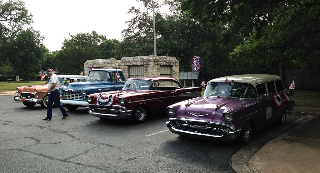Some Chevys from the1950s also took part in the parade.