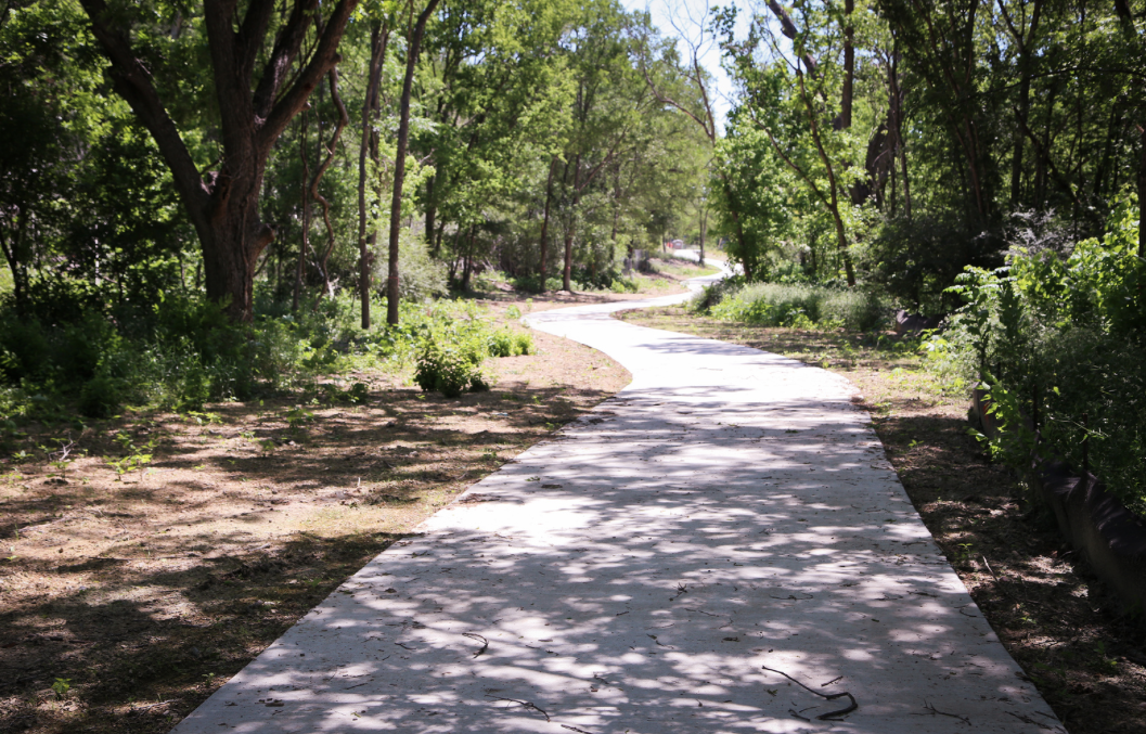 Typical view along the trail. From the City of Austin Walnut Creek Trail System website.