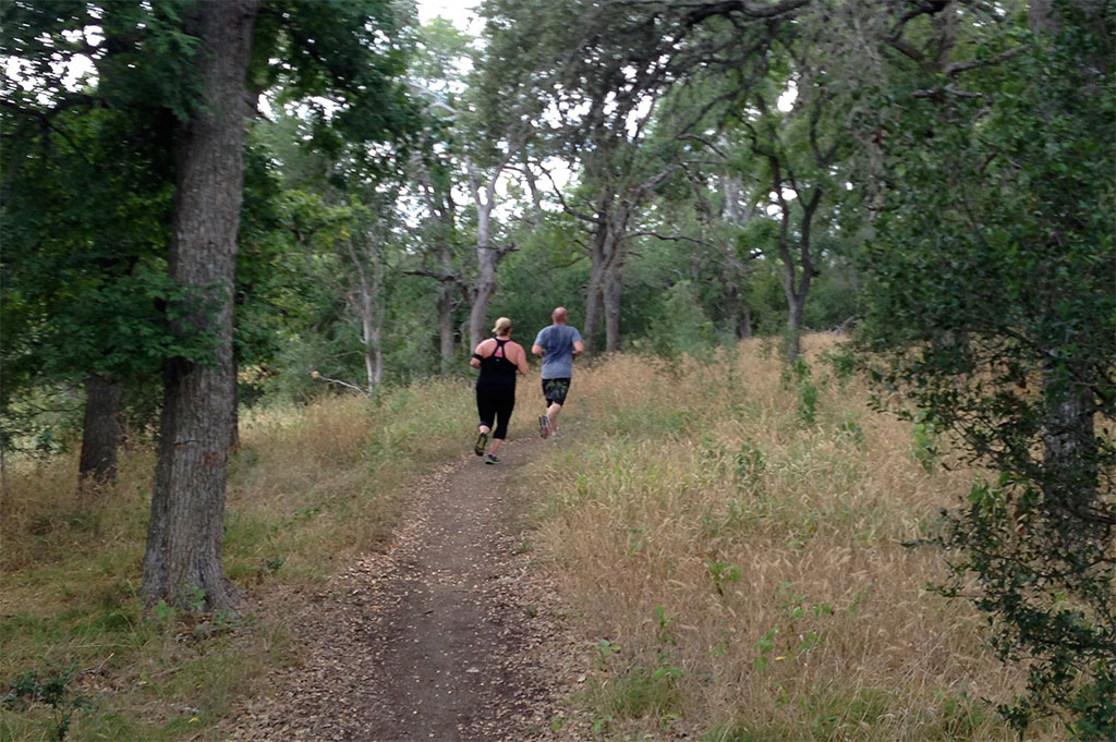 Trail running is popular. I made way for several runners during my ride.