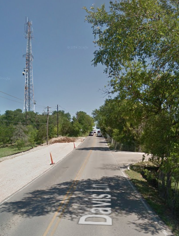 The Davis Hill from Google Street View. It's a lot steeper than the camera shot makes it look.