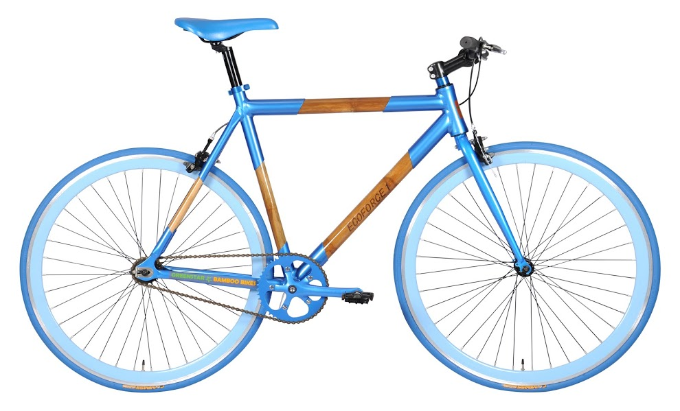 Greenstar's EcoForce 1 bike in blue.
