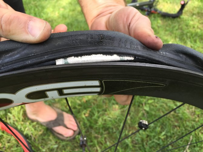 repair  cut bicycle tire   bike noob